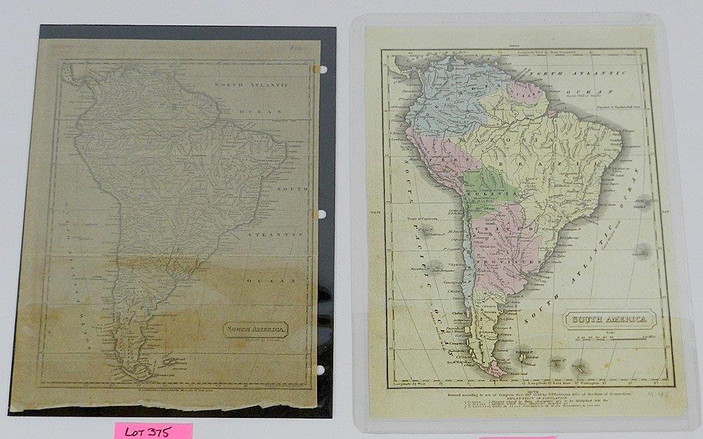 Twelve 19th C. Maps of South America