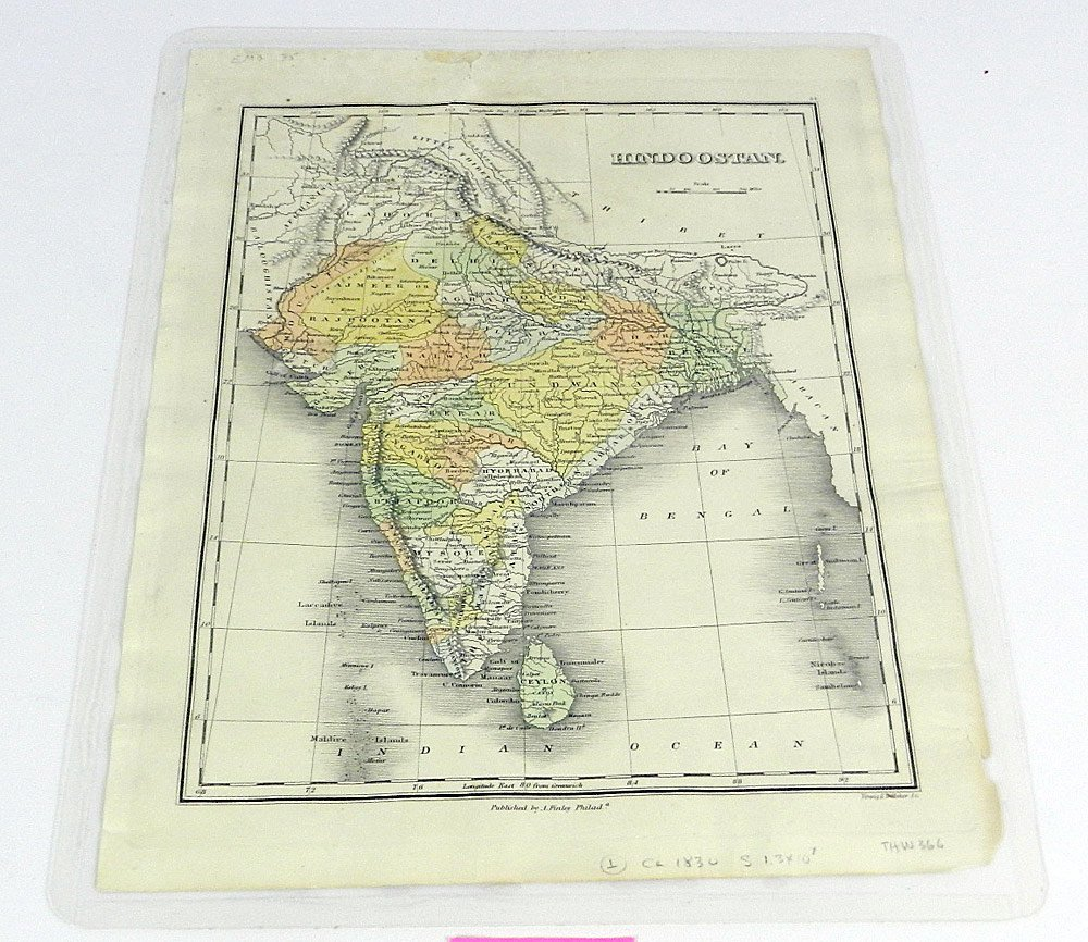 Seven 19th C. Maps of India