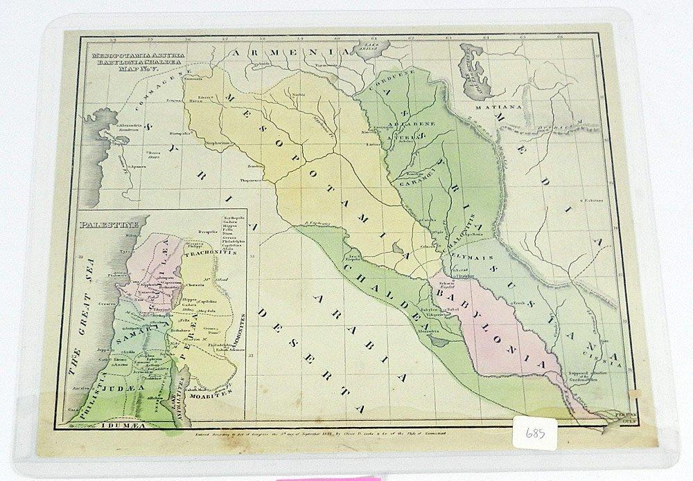 Four 19th C. Maps of Palestine