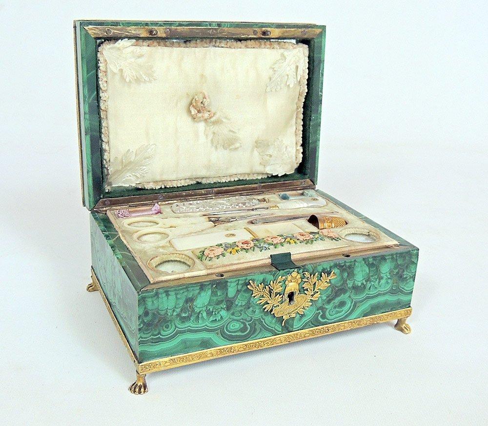 Green Malachite Necessaire Box