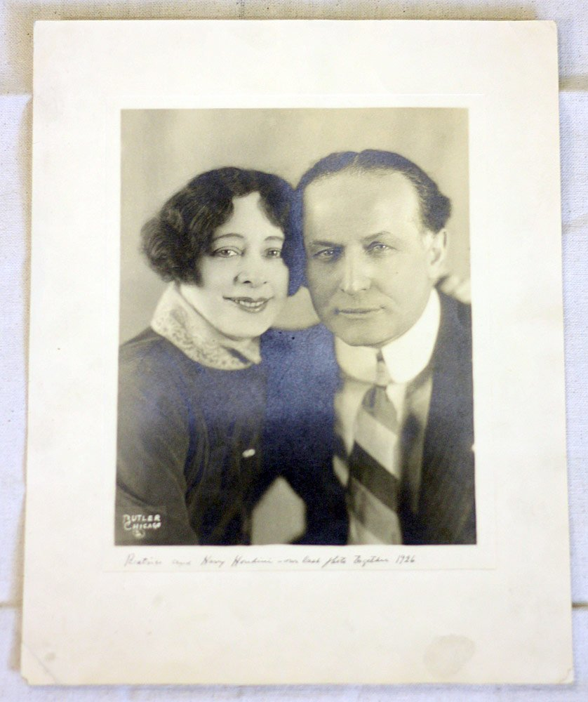Photograph of Beatrice and Harry Houdini