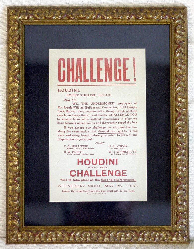 Harry Houdini Challenge