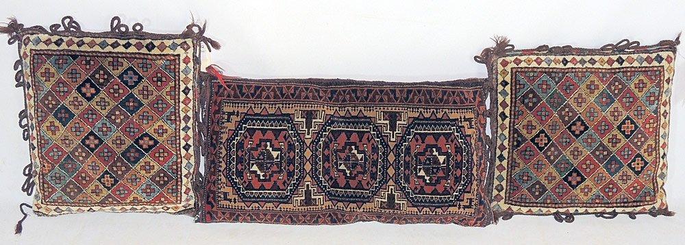 3 Oriental Carpet Pillows
