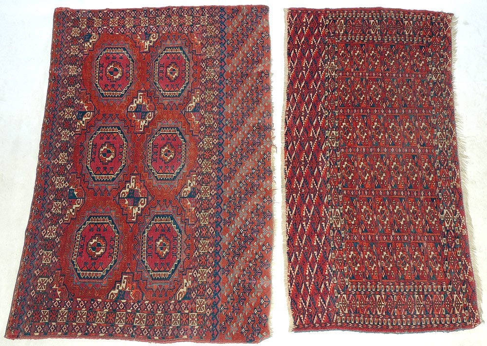 Two Antique Bokhara Mats
