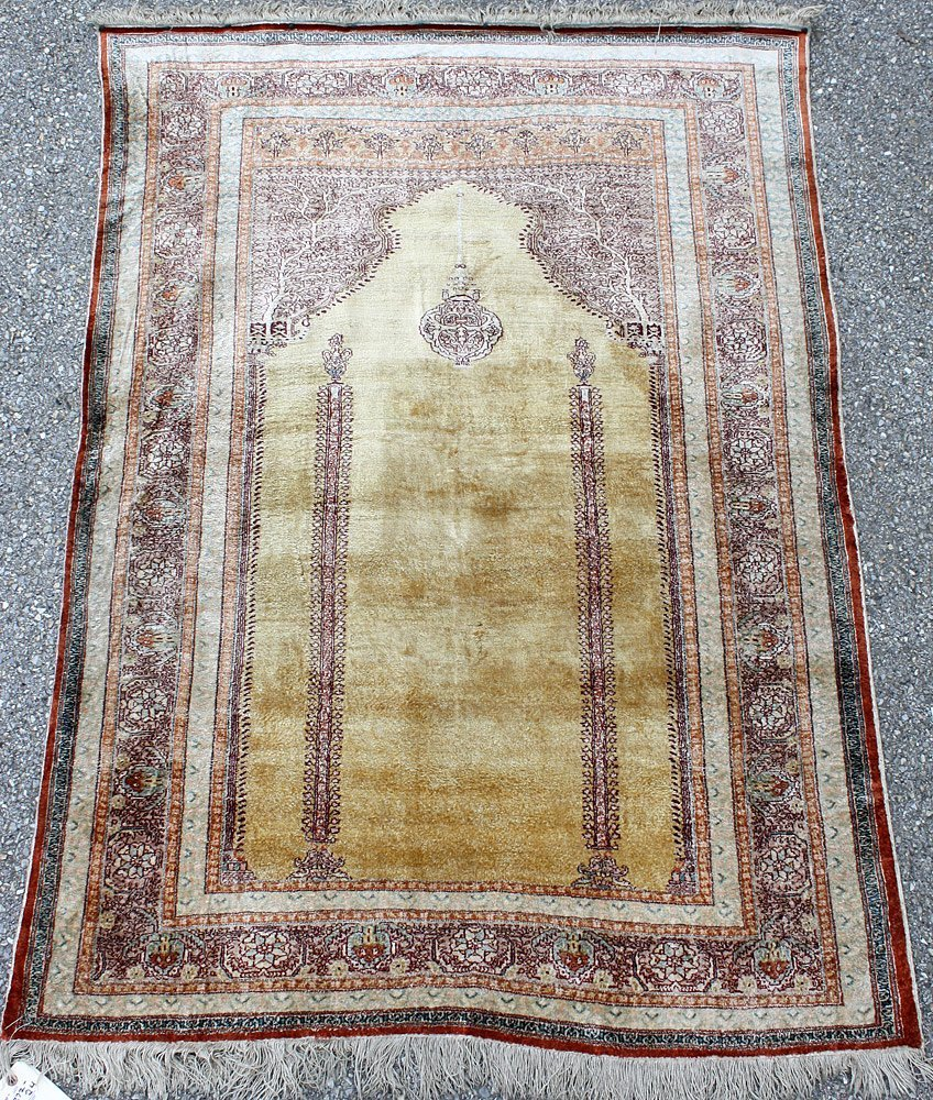 Tabriz Silk Prayer Mat