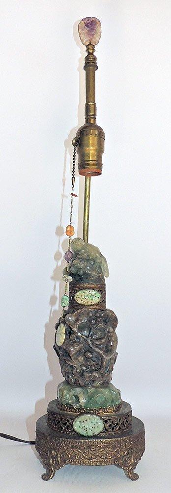 Antique Chinese Quartz Lamp