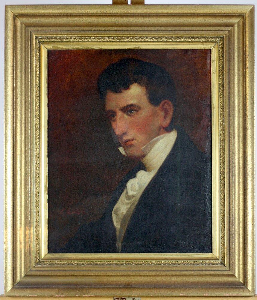 Emanuel Gottlieb Leutze. Oil on Canvas Portrait