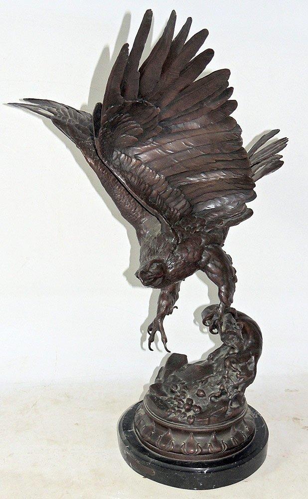 Max Turner. Bronze Eagle Sculpture