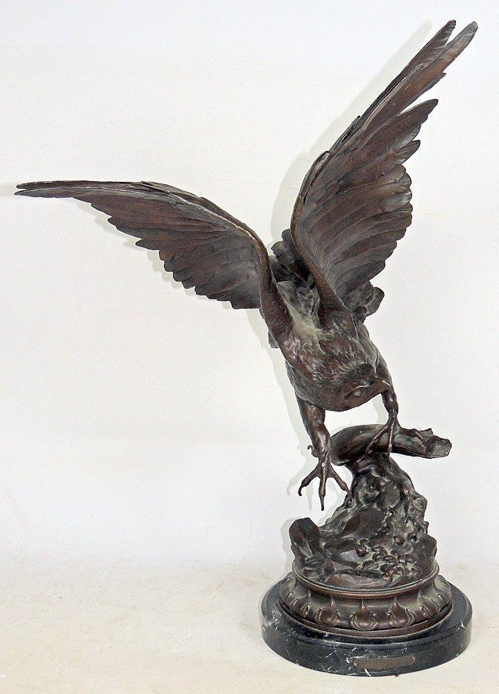 Max Turner. Bronze Eagle Sculpture - 3