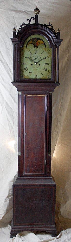 Aaron Willard Federal Mahogany Tall-Case Clock