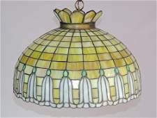 Arts  Crafts Leadedglass Hanging Dome Light