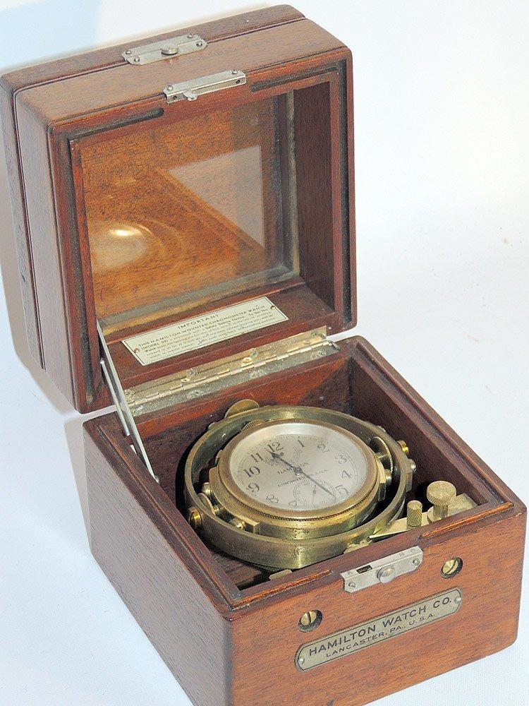 Hamilton Model 22 Ships Chronometer - 4