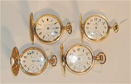 Four Hamilton Gold-filled Pocket Watches