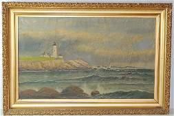 Oil on Canvas Landscape, attrib. to Thomas Parkhurst