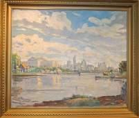 John Dull Oil/Canvas, Philadelphia Scene