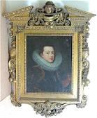 Dutch School, Oil/Canvas Portrait of Gentleman