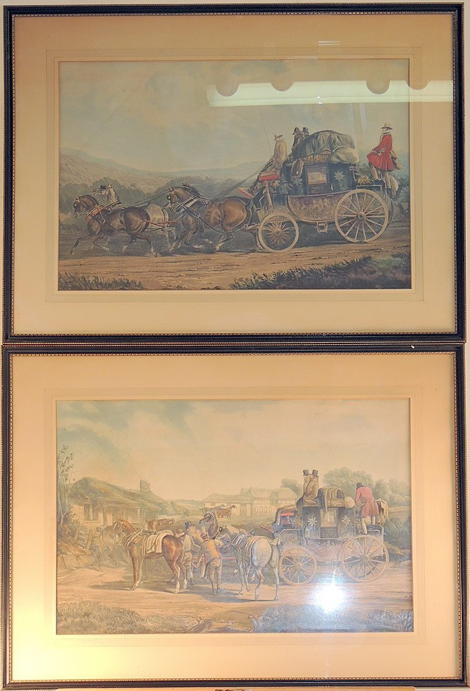 Two English Carriage Prints