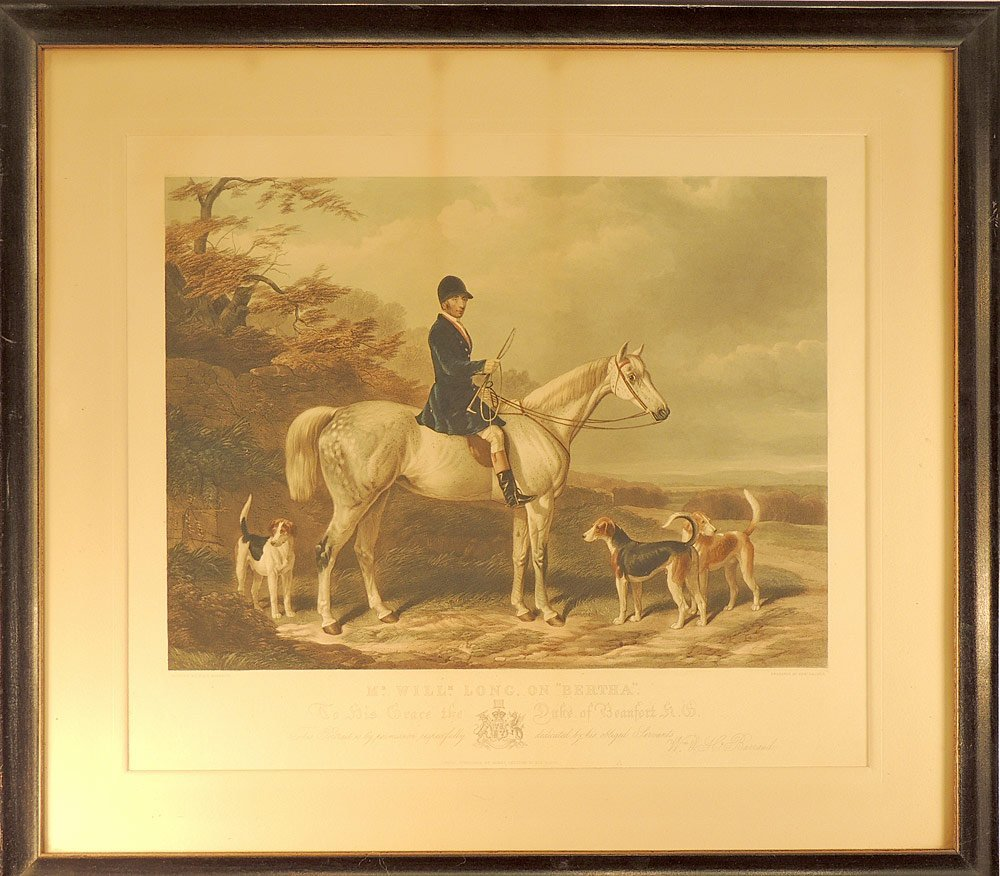 Edward Hacker  Color Engraving, Horse and Rider