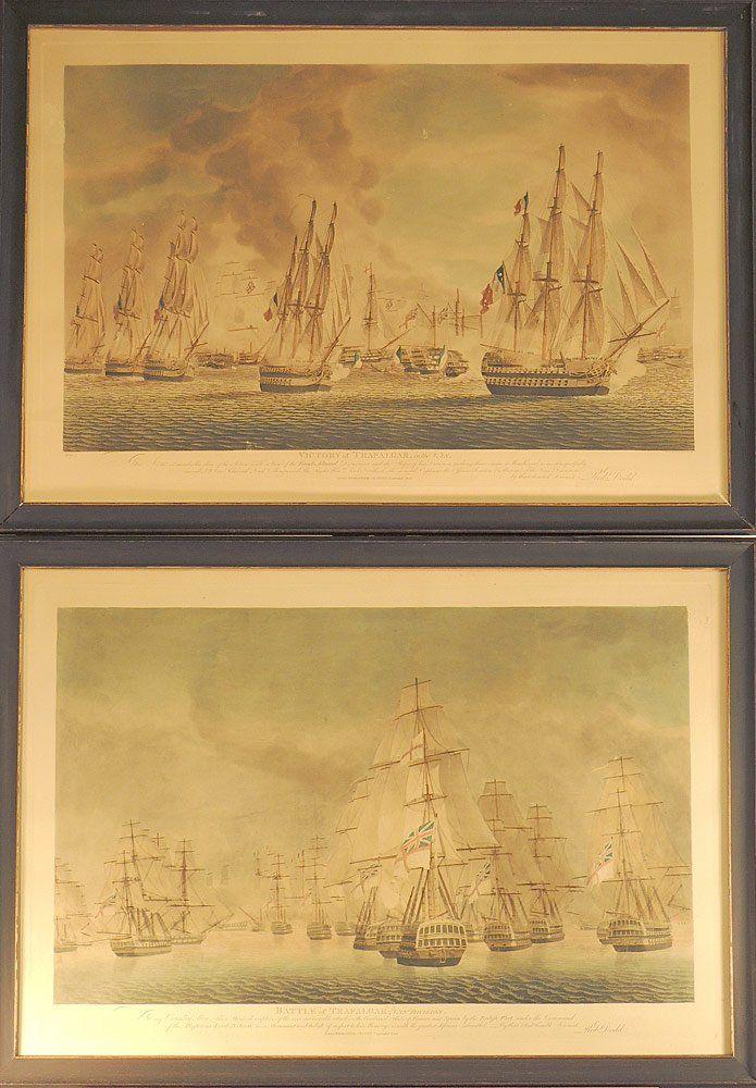 Two Engravings, English Naval Battles