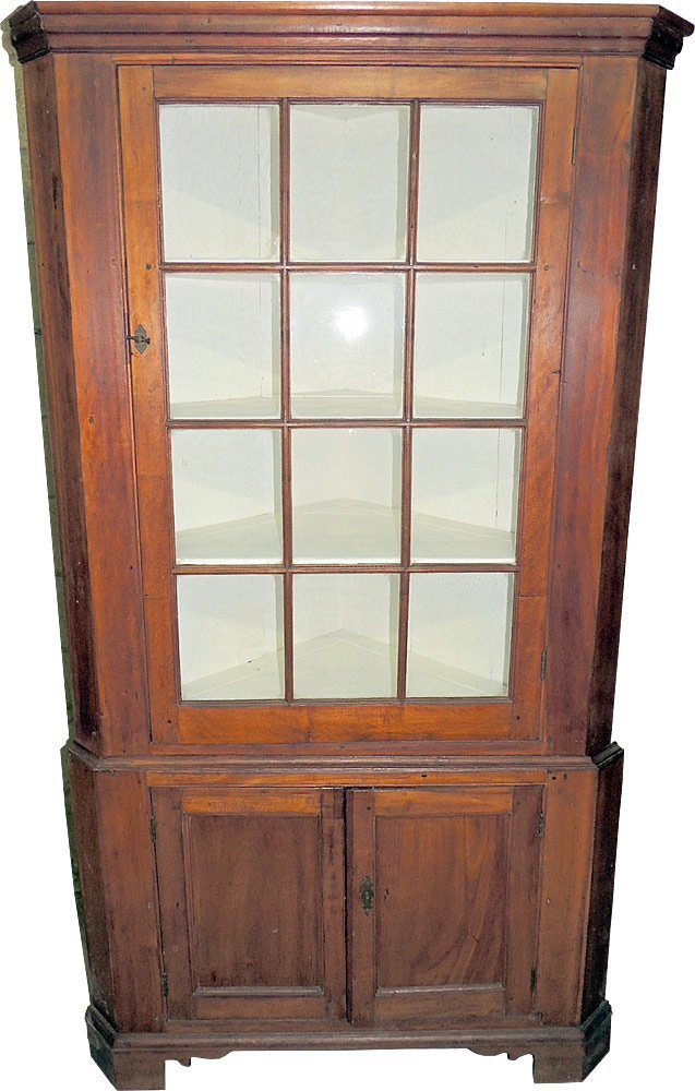 Federal Pine  Two-Piece  Corner Cupboard