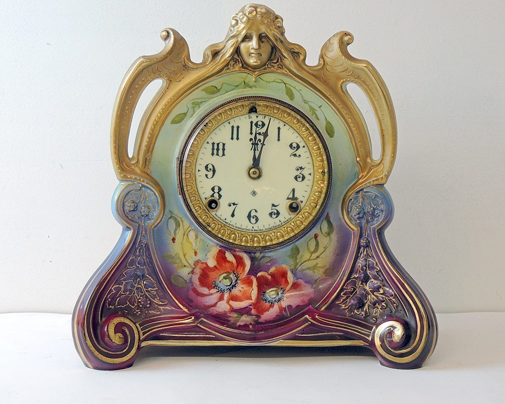 """Ansonia Royal Bonn """"La Chapelle"""" Mantel Clock"""