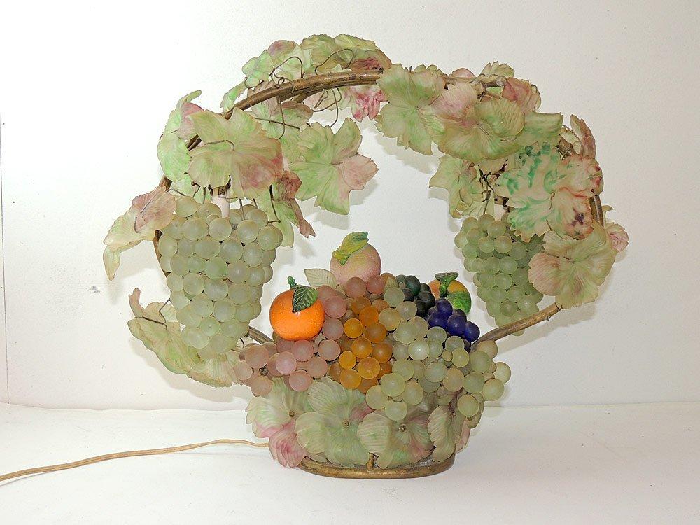 Czech. Art Glass Fruit Basket