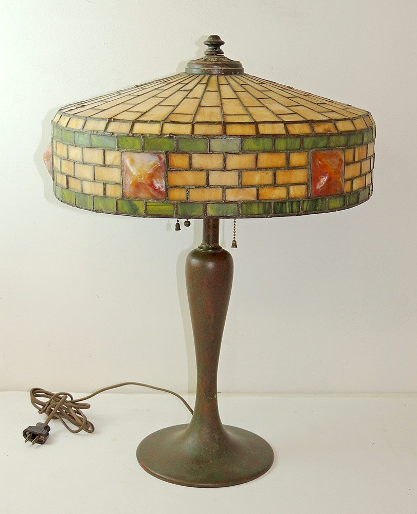 Chicago Mosaic Leaded-Glass Table Lamp