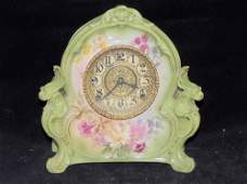 Gilbert Royal Bonn Porcelain Mantel Clock