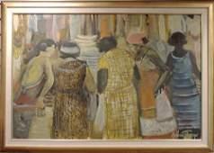 Andrew Turner Oil on Canvas Genre Scene of Women