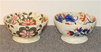 Two Pearlware Footed Bowls