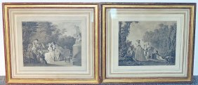 Pair Of Antique French Engravings