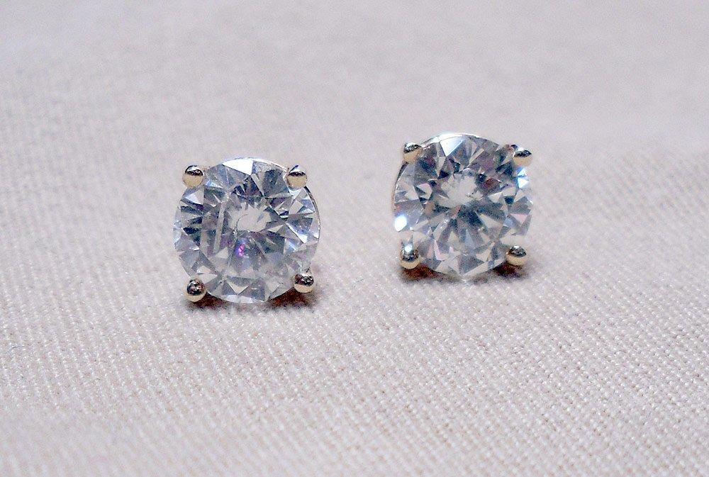 Pair of 14K Diamond Stud Earrings
