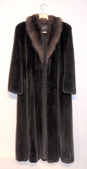 Black Opal Mink Coat