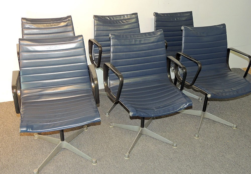 Six Eames for Herman Miller Aluminum Group Chairs