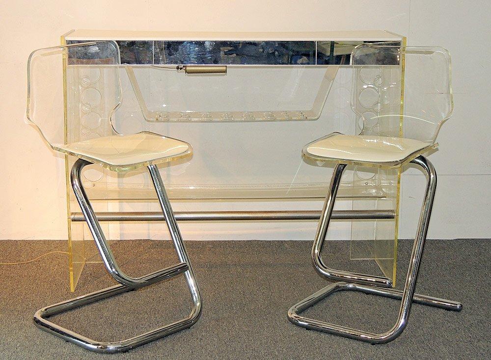 1970s Modern Design Lucite Bar Set