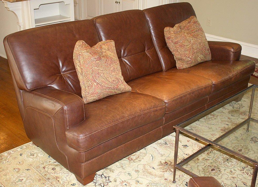 Italian Modern-Design Leather Sofa