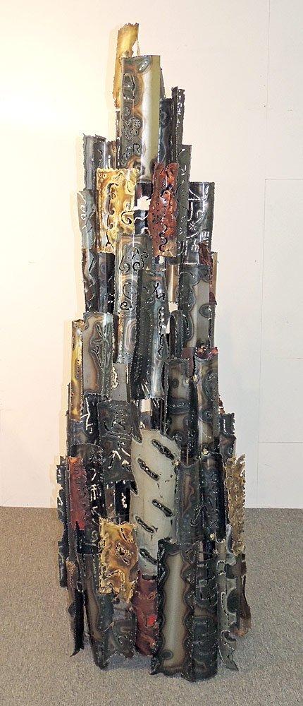 Brutalist Welded-Metal Sculpture