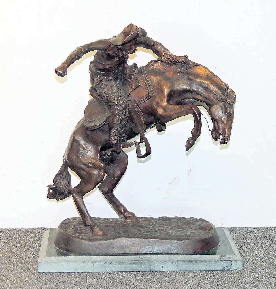 After Frederic Remington Bronze, Bronco Buster