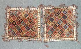 Pair of Caucasian Bag Face Pillows