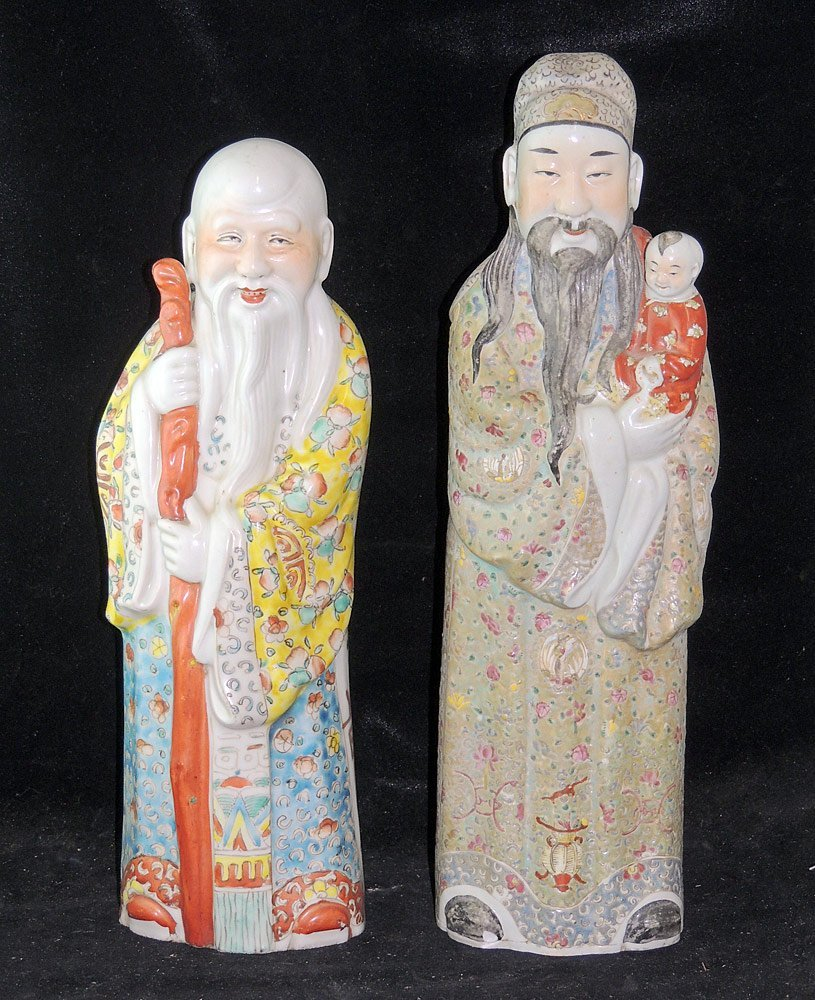 Two Chinese Porcelain Figures