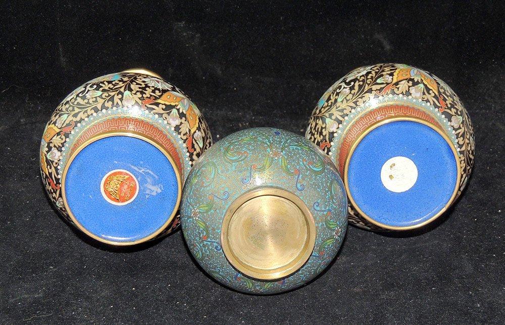 Three Cloisonné Vases - 2