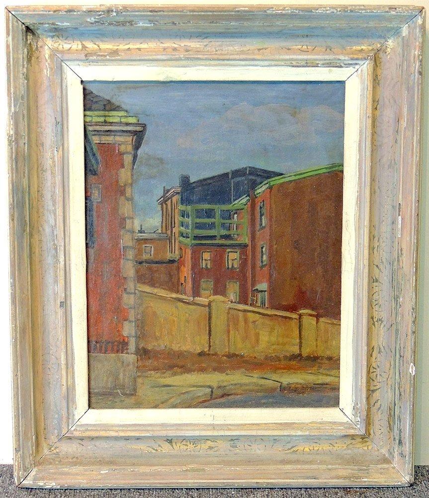 Robert Martin Oil on Board, Urban Landscape