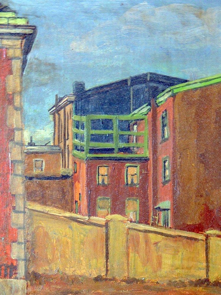 Robert Martin Oil on Board, Urban Landscape - 2