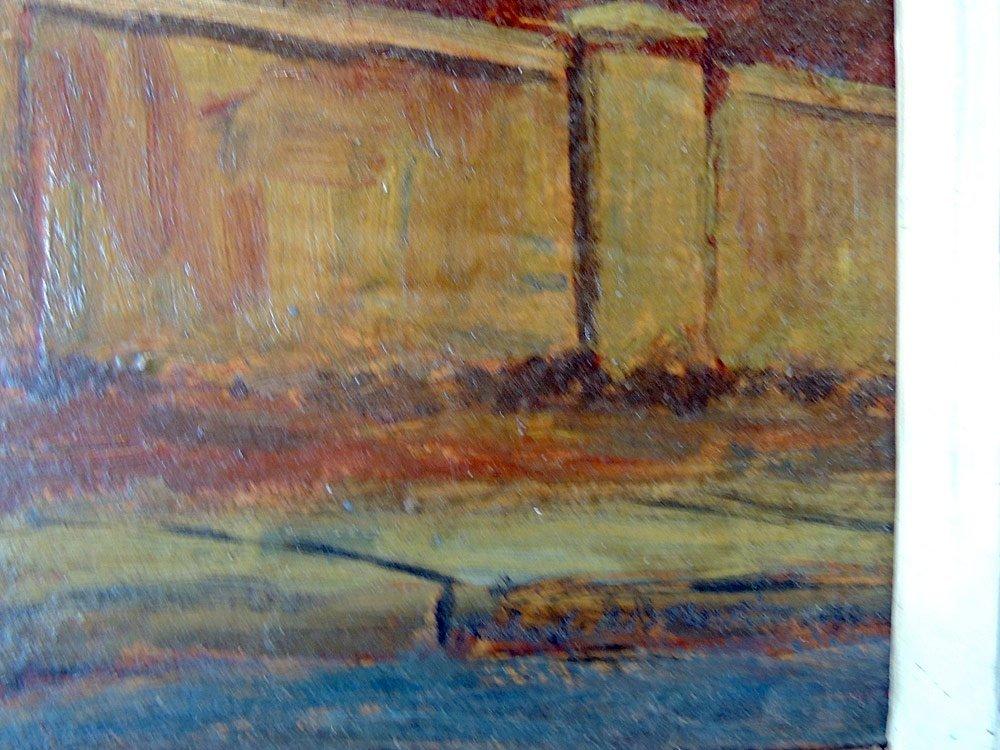Robert Martin Oil on Board, Urban Landscape - 3