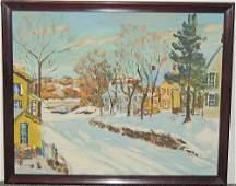 Walter Emerson Baum Oil on Panel, Riegelsville