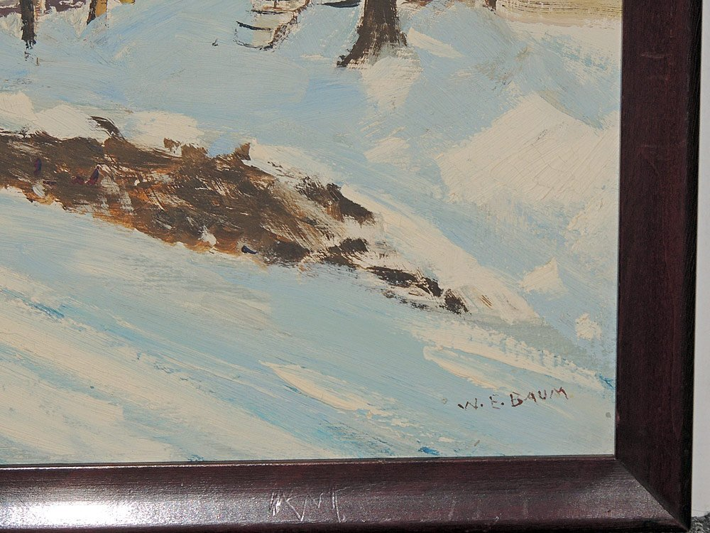 Walter Emerson Baum Oil on Panel, Riegelsville - 2