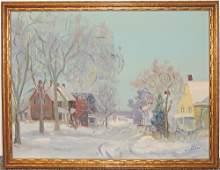 Walter Emerson Baum, Oil on Panel, Schwenksville