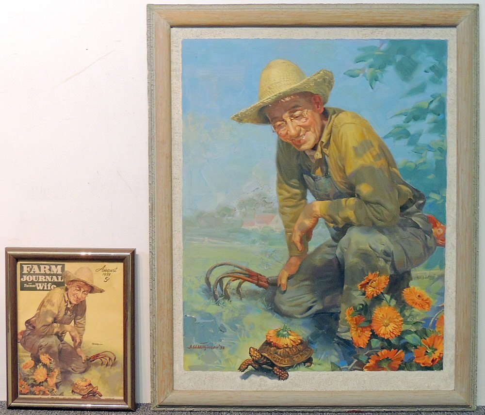 J. Walter Wilkinson Oil/Panel Farm Illustration