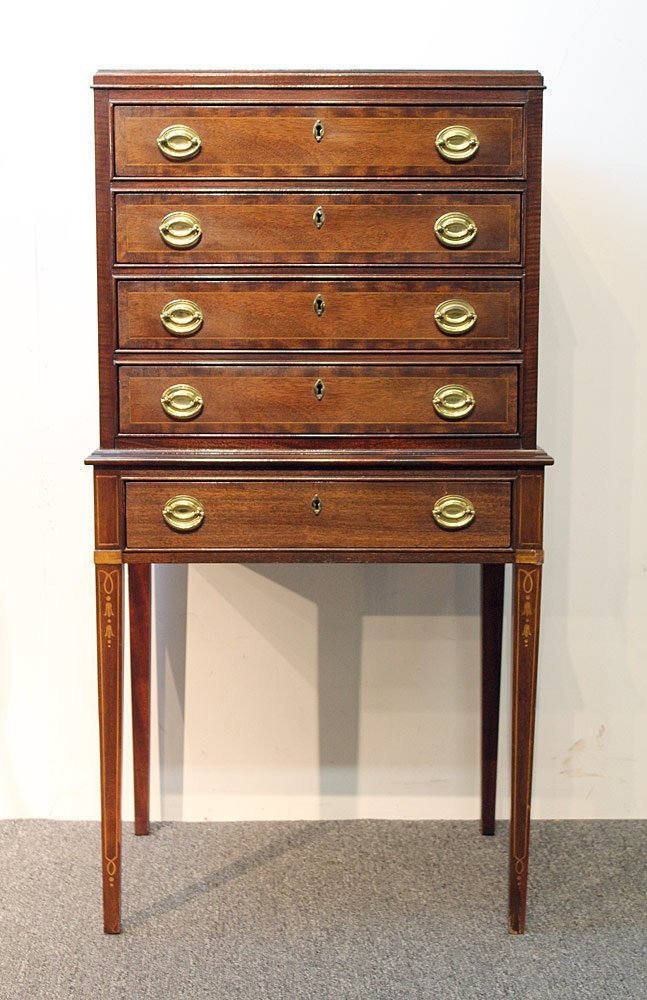 Councill Mahogany Federal-style Silver Chest
