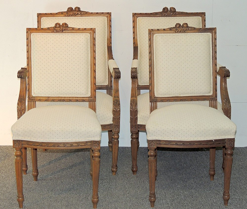 French Louis XVI-style 5-piece Parlor Suite - 2